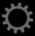 white dotted cogwheel icon vector image vector image