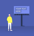 your text here mockup outdoor advertising young vector image vector image
