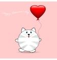 Cute cartoon cat Birthday Card vector image