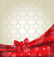Elegance background with ribbon bow vector image