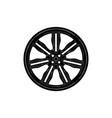 black disk wheel vector image