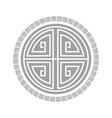 tribal round frames decorative element vector image