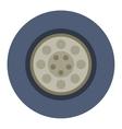 Car wheel cartoon flat vector image
