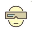 3d glasses technology icon design 48x48 pixel vector image