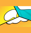 abstract pop art comic book cartoon background vector image