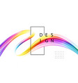 abstract shiny color spectrum wave design element vector image vector image
