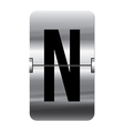 Alphabet silver flipboard letters n vector image