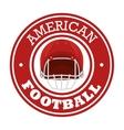 american football sport icon vector image vector image