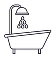 bathtub shower line icon sign vector image
