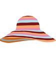 Beach summer hat vector image vector image