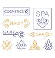 Beauty and Cosmetics Logos vector image