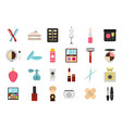 beauty element icon set flat style vector image vector image