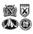 beer badges collection vector image vector image