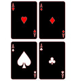 black aces vector image vector image
