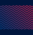 black background with vibrant zigzag pattern vector image vector image