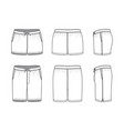 blank clothing templates of swimming shorts vector image vector image