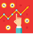 Business infographic growth vector image