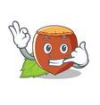 call me hazelnut mascot cartoon style vector image vector image