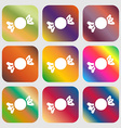 candy icon sign Nine buttons with bright gradients vector image