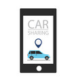 car sharing service concept carsharing renting vector image vector image