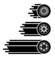 car wheels move track vector image