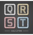 Chalk letters set vector image vector image