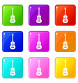 classical guitar set 9 vector image vector image