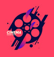 colorful poster cinema in vector image
