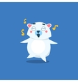 Dancing Polar Bear vector image