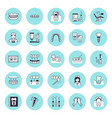 dentist orthodontics flat line icons vector image