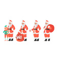 Design template with Santa Claus and elf Cartoon vector image