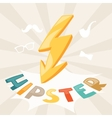 Design with lightning in hipster style vector image vector image