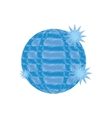 disco ball party icon design vector image