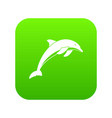 dolphin icon digital green vector image