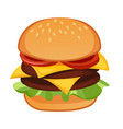 double meat hamburger vector image vector image