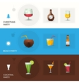Drinks Polygonal Banners vector image vector image