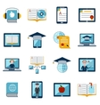 E-learning Icons Set vector image vector image