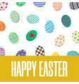 easter postcard greeting or invitation card vector image