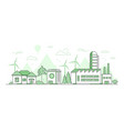 eco manufacturing - modern thin line design style vector image