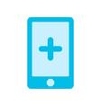 emergency phone flat icon vector image