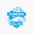 fishing fishing logo badge 4 vector image vector image