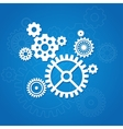 gear background Flat Design vector image