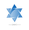 glass star of David on white background vector image vector image