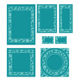 graphic set with template frames in different vector image