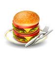 hamburger 09 vector image vector image