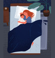 happy mother hugging little child sleeping vector image vector image