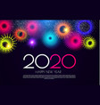 happy new 2020 year colorful design template vector image vector image