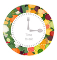 Healthy eating food clock vector image