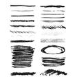 Isolated shapes Set of black grunge vector image