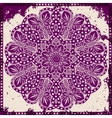 Lace ornament on grunge background vector image vector image